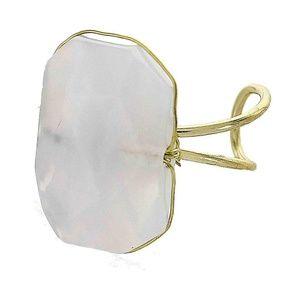 Rectangular Stone Ring- Periwinkle